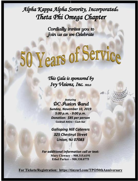 Theta Phi Omega 50th Chartering Celebration